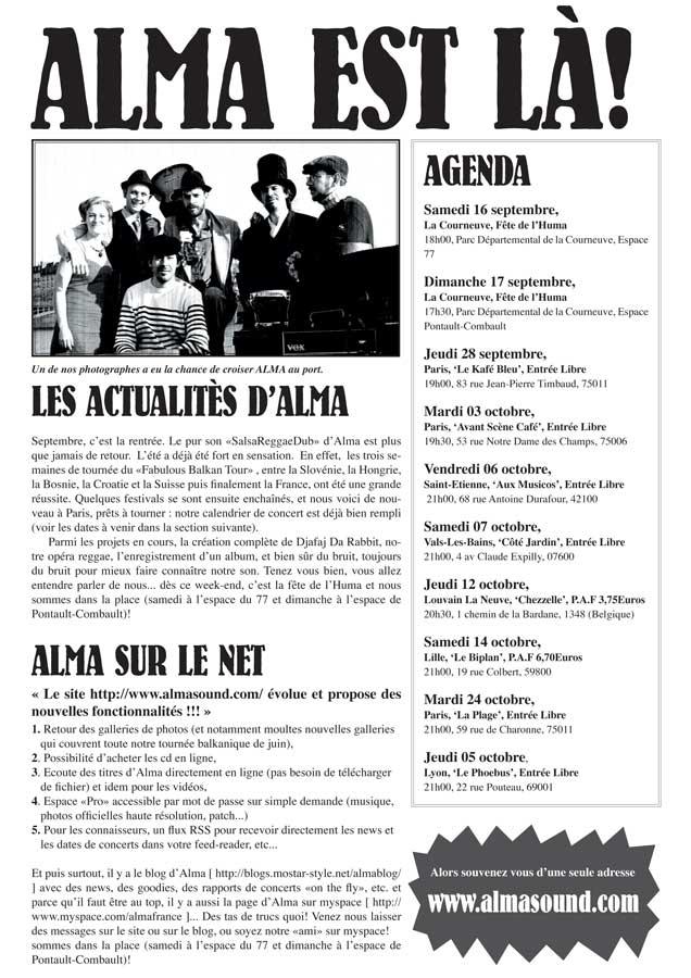 Fanzine Alma - Septembre 2006