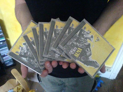 Les cds sont arrivés!